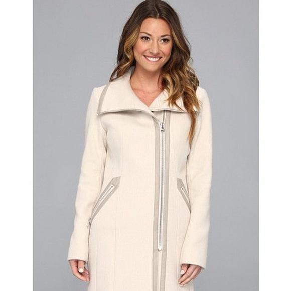 c4972e86095 Calvin Klein Jackets & Coats   Asymmetrical Coat Wfaux Leather Trim ...